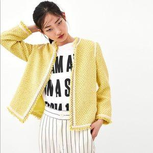 NWT Zara Tweed Cardigan Blazer